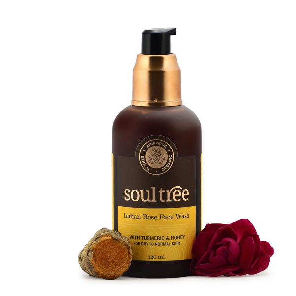 Rose face wash with turmeric & honey
