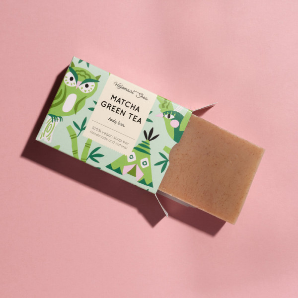 Matcha green tea soap